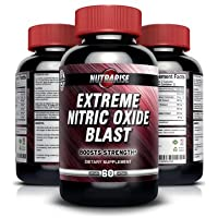 Extreme Nitric Oxide Booster For Men, Pre-Workout Formula with L-arginine and L-glutamine, Used by Bodybuilders to Build Muscle and Increase Pump, Increases Strength and Stamina, 60 Capsules