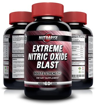 Extreme Nitric Oxide Blast - L-Arginine Supplement with L-Glutamine to Build Muscle Fast, Boost Performance, Increase Strength, Pump & Stamina, Increase Workout Endurance and (Nitric Blast)