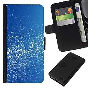 EJOY---La carpeta del tirón la caja de cuero de alta calidad de la PU Caso protector / LG OPTIMUS L90 / --Azul Blanco Nieve