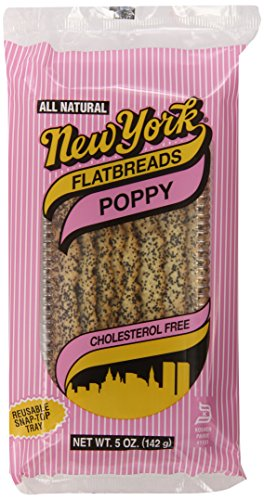 New York Flatbreads, Poppy, 5 Ounce (Pack of 12)