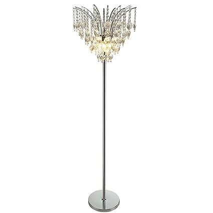 GFL Lámpara de pie LED de Cristal/iluminación Interior ...