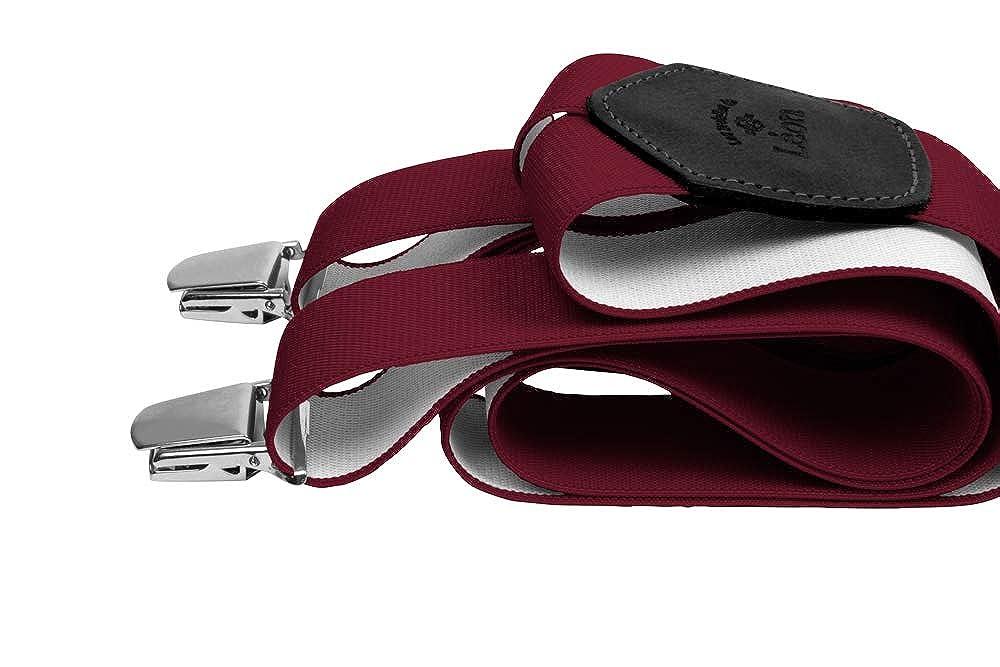 Les Bretelles de Lé on Bretelles XL 140 cm Prune pour faire fortune Les Bretelles de Léon 30935A