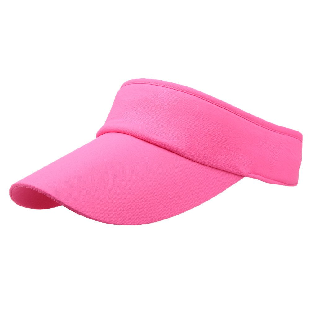 Casual Sun Hat for Men and women,Babymomo Sport Headband Classic Visor Hat Solid Color Cap
