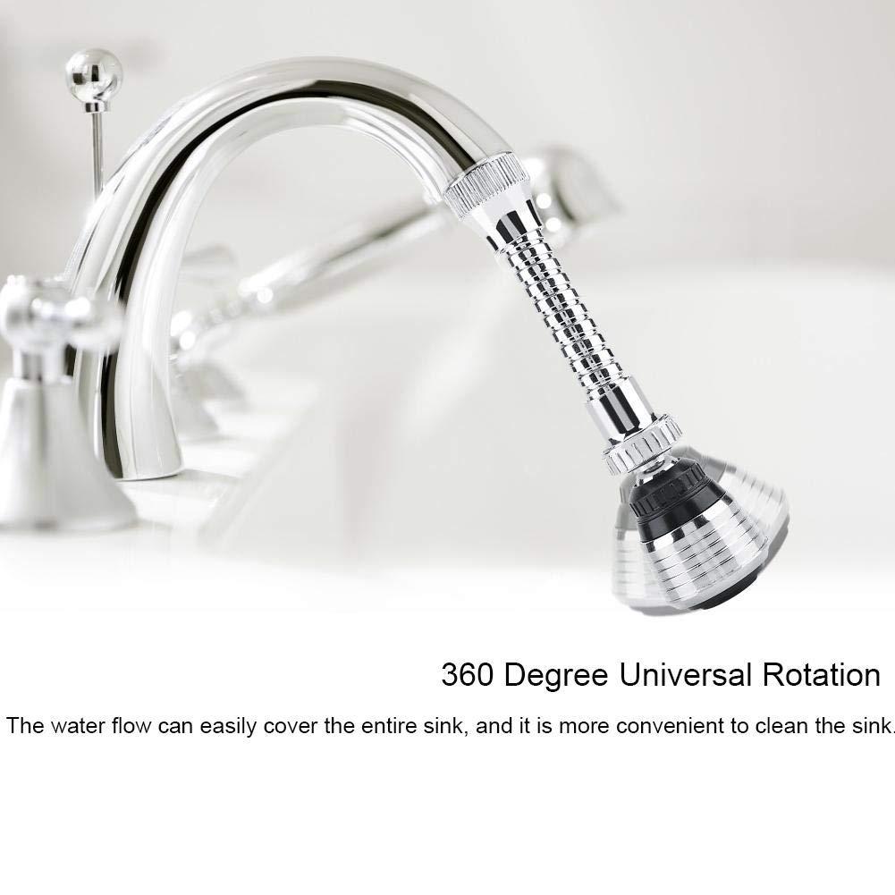Garosa 360 /° Fregadero del Fregadero Cuarto de Ba/ño Cocina Grifo Cabeza de Rociador Pieza de Repuesto Universal Grifo Flexible Burbuja Turbo Flex Dispositivo de Ahorro de Agua Economizador de Agua