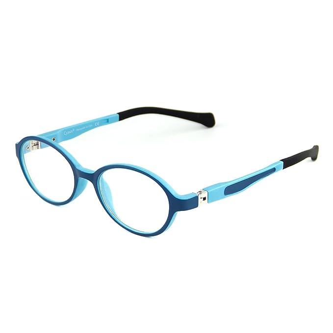 1a48dc9f27 Cyxus anti luz azul gafas para niños de 5-10 años [peso ligero flexible