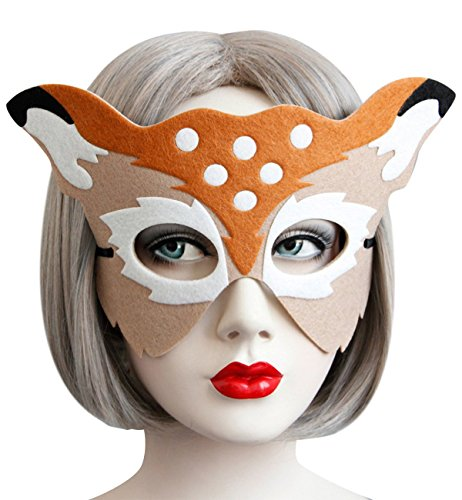 Sexy Halloween Party Mask Deer Animal Half Face Masks Christmas Costume Masquerade Prom Ball Fancy Dress Party Favors Dress-Up Adults Children ()