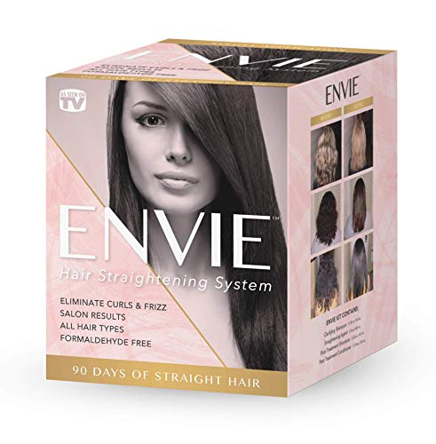 ENVIE Hair Straightening System Single Application 90 Days of Straight Frizz Free Hair (Best Permanent Hair Straightening Treatment)