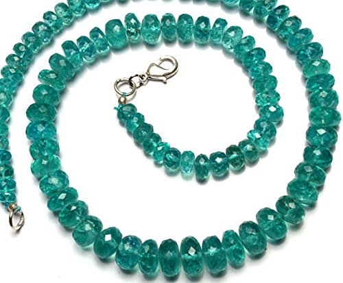 JP_Beads 1 Strand Natural Apatite Big 6 to 10MM Facet Rondelle Beads 16.5