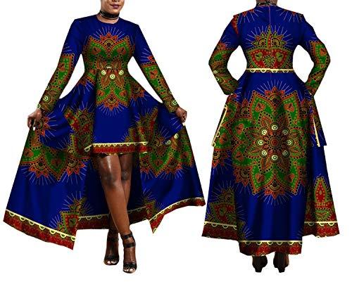 2019 African Dresses for Women Print Batik Sexy Long Dress Traditional Clothing,10,XL