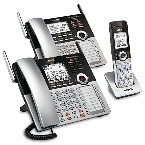 VTech 4-Line Small Business Phone System - Office Starter Bundle with  1 CM18445 Main Console, 1 CM18245 Deskset & 1 CM18045 Handset