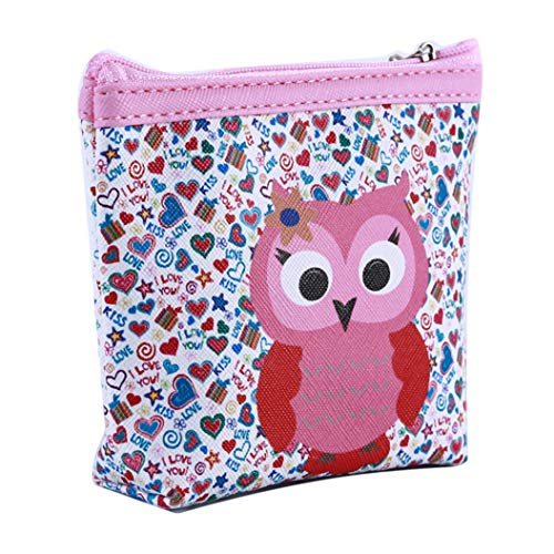 LZIYAN Cute Coin Purse Cartoon Owl Pattern Coin Purse Clutch Bag Portable Small Wallet With Zipper Storage Bag Creative Gift For Women,4# by LZIYAN (Image #2)