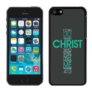 LJF phone case Kate Spade,silicone,spigen,silicone,john Deere,men,bible Philippians Jesus Christ Christian Cross Cases Cover Green At Abcabcbig Store iphone 4/4s Case Black Cover