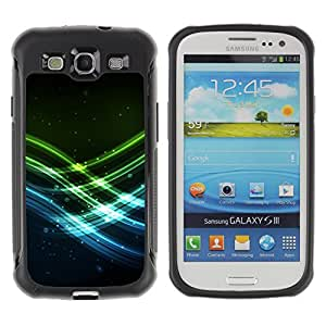 CAZZ Rugged Armor Slim Protection Case Cover Shell // Neon Waves // Samsung Galaxy S3
