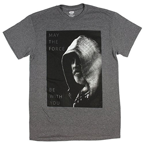 Star Wars Mens Luke Skywalker May The Force Be With You T-Shirt (Large)