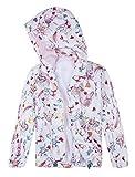 Jingle Bongala Boys' Girls' Lightweight Jacket Hooded Windbreaker Cartoon Coat Outwear-Pink Cat-6-7Y