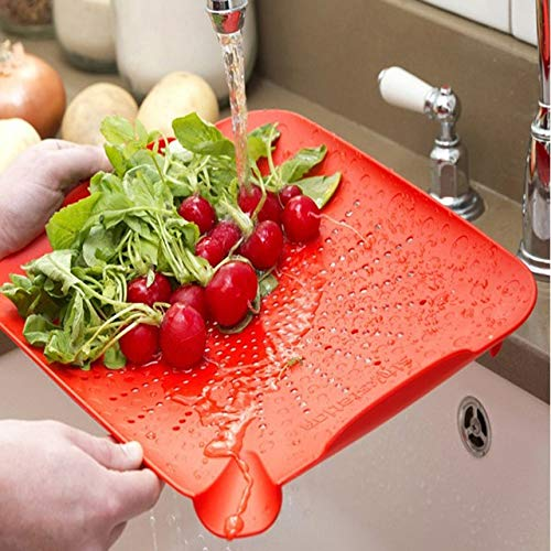 BeesClover Multi-Function Plate Creative Kitchen Sink Drop draining Board,Fruit Bowl,Wash The Board,Garbage to Receive Plate Board to Board Show