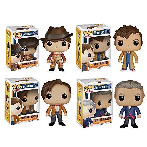 Doctor Who, Pop Television, Vinyl Collectors Set (Fourth Doctor/ Tenth Doctor/ Eleventh Doctor/ Twelfth Doctor)
