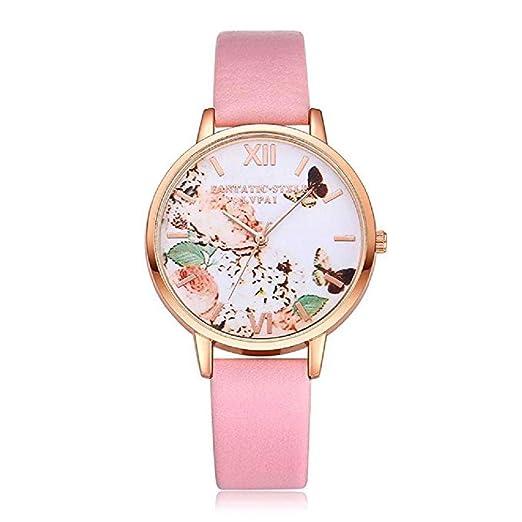 Scpink Mujeres Relojes de Cuarzo, Impresión Mariposa patrón de liquidación analógica Moda Relojes Mujer de