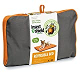 Insect Shield Insect Repellant Reversible Dog Bed for Protecting Dogs from Fleas - Ticks - Mosquitoes & More