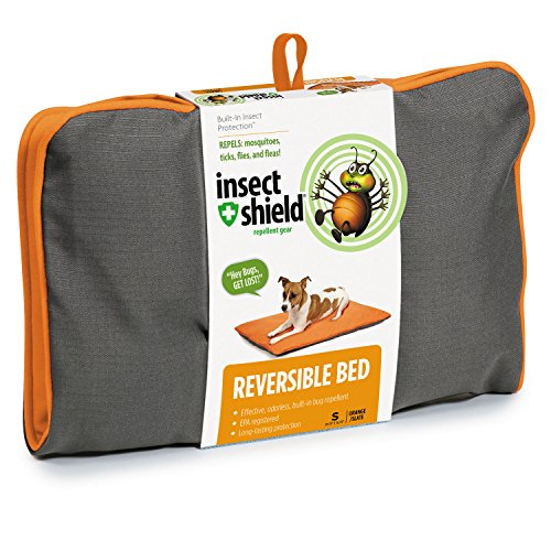Insect Shield Insect Repellant Reversible Dog Bed for Protecting Dogs from Fleas, Ticks, Mosquitoes & More -  PET EDGE DEALER SERVICES, IE9612 24 11