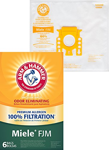 Amazon.com - Arm & Hammer (ARMCW) A&H Miele Style FJM Premium Synthetic Bag-6 Pk -