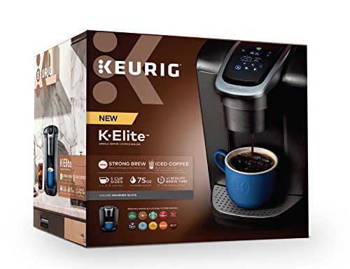 Keurig K-Elite K Single Serve K-Cup Pod Maker, with Strong Temperature Control, Iced Coffee Capability, 12oz Brew Size, Brushed Slate by Keurig (Image #11)