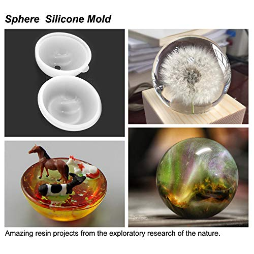 Epoxy Resin Molds LET'S RESIN Resin Casting Molds Silicone Square Ball  Molds 9PCS Different Sizes, Silicone Resin Mold for Resin Jewelry, Soap,  Dried