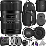 Sigma 18-35mm F1.8 Art DC HSM Lens for NIKON DSLR Cameras w/ Sigma USB Dock & Advanced Photo and Travel Bundle