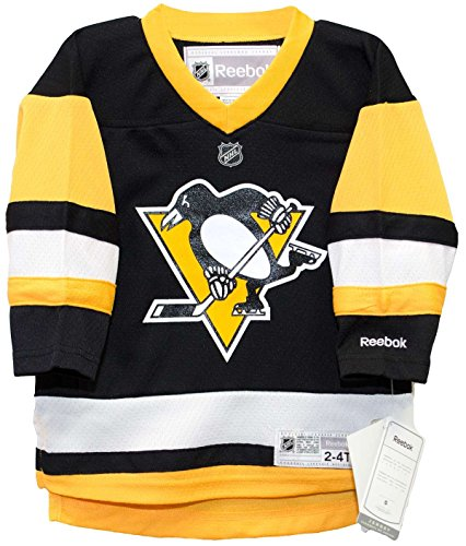 Pittsburgh Penguins Alternate Black Infant, Toddler and Child Screen Print Jersey (Toddler 2T-4T)