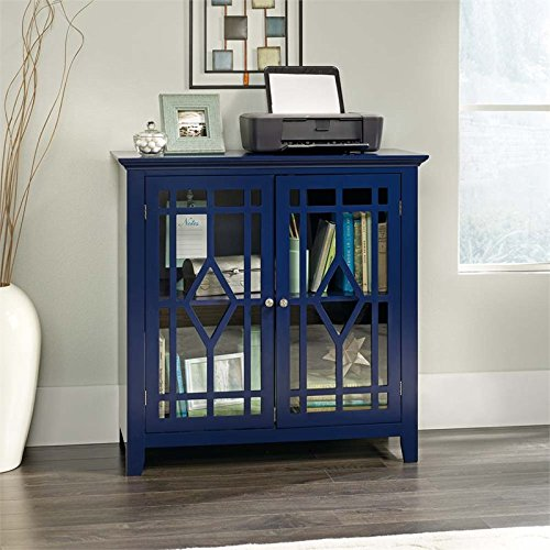 Sauder Shoal Creek Display Cabinet in Indigo Ink by Sauder