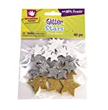 Fibre Craft 7531E Creative Hands Glitter Foam Stickers, Stars