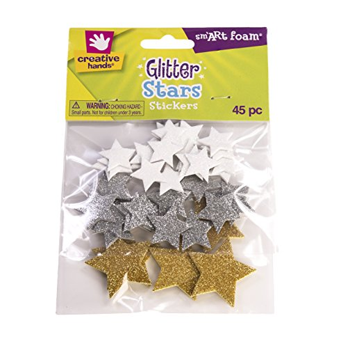 Creative Hands Glitter Foam Stickers, Stars