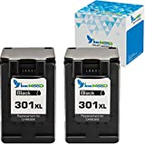 Inkwood Remanufactured 301 XL Ink Cartridges 2 Black Compatible with Deskjet 2544 1010 2540 3050 1510 2510 2050 1050 3055A 1000 3050A 2514 ENVY 4500 4504 5530 5532 4502 5534 Officejet 2620 4630 4636