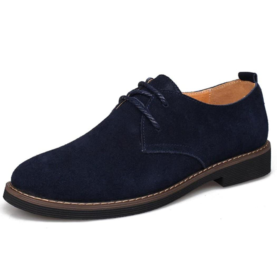 Herren Echtleder Schuhe Freizeitschuhe Schnürsenkel Echtes Leder Joker Mode Lederschuhe