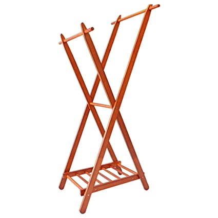 a99acf745174 Amazon.com: YX Xuan Yuan Wooden Coat Rack,Coat Racks Solid Wood ...