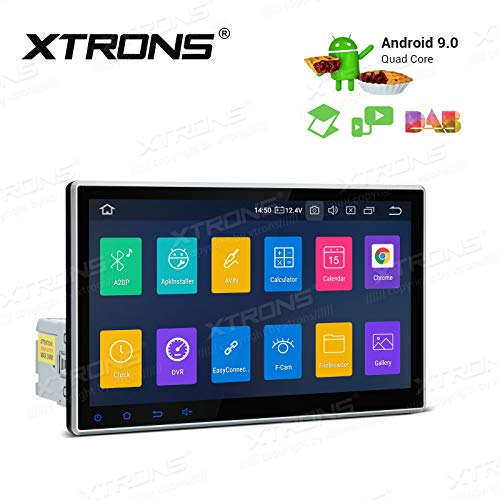 XTRONS Android 9.0 Car Stereo Radio GPS Navigator 10.1 Inch Touch Display Rotatable Face Panel Head Unit Supports Car Auto Play Bluetooth 5.0 WiFi Backup Camera DVR OBD TPMS Full RCA Output
