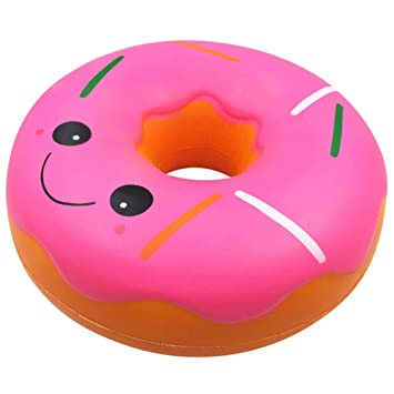 2018 Newest Jumbo Giant Doughnut YUYOUG 25cm Squishies Kawaii Cartoon Emoji Super Slow Rising