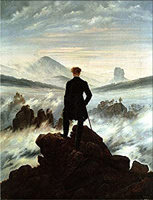 The Wanderer above the Mists by Caspar David Friedrich. 100% Hand Painted. Oil On Canvas. Reproduction. (Unframed and Unstretched).