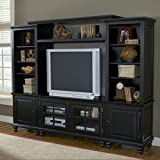 Hillsdale Grand Bay Small Entertainment Wall Unit, Warm Brown