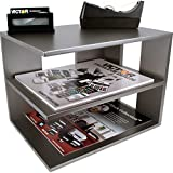 Corner Shelf, 3 Shelves Storage (Classic Silver)