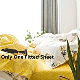 VClife Queen Full Cotton Fitted Sheet Modern Geometric Printed Bed Sheet Boy Girl Sheet with Deep Pocket, Wrinkle, Fade, Stain Resistant, Hypoallergenic
