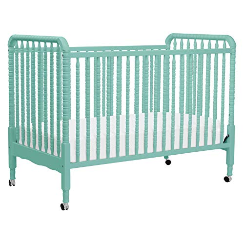 DaVinci Jenny Lind 3-in-1 Convertible Portable Crib in Lagoon - 4 Adjustable Mattress Positions, Greenguard Gold