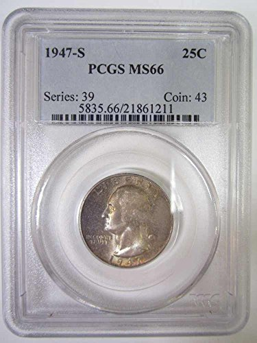 1947 S George Washington Presidential Quarter PCGS MS66