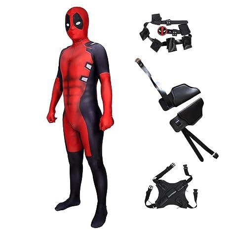 CHXY Deadpool NiñO Adulto Ropa Cosplay Vestido Halloween ...