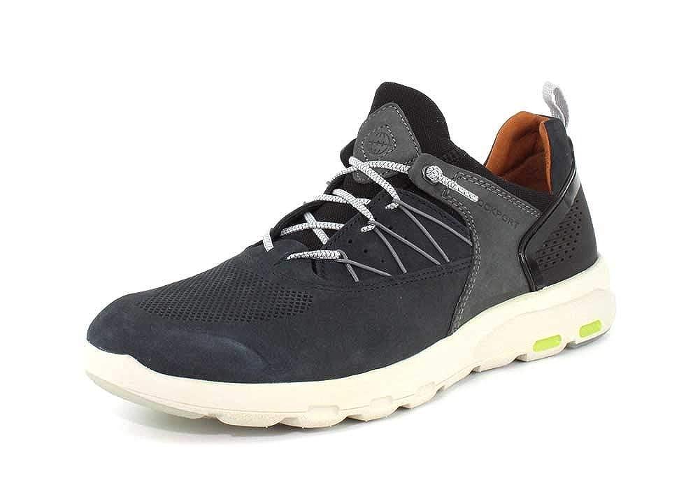 Rockport Lets Lets Lets Walk Pour des hommes Bungee Comfort chaussures bleu Nubuck - 12 Wide 00e