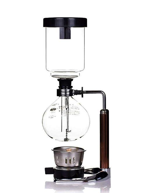 Mecion Syphon Cafetera eléctrica de vidrio al vacío, de 3/5 tazas ...