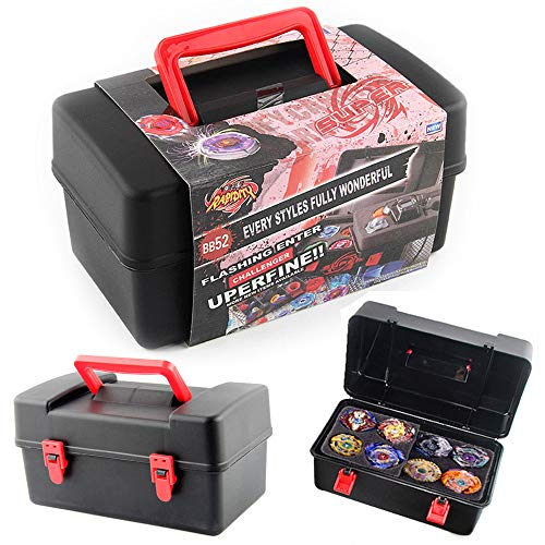 Carry Cover, Portable Waterproof Box 8 in 1 Carrying Case for Beyblade Burst Spinning Top by Little Story