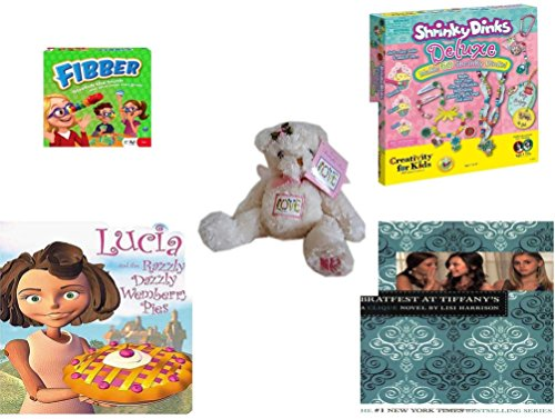 Girls Gift Bundle   Ages 6 12  5 Piece    Flibber Board Game   Creativity For Kids Shrinky Dinks Fun Deluxe   Usps Garden Butterfly Bear Love Usa 20   Stamp   Lucia And The Razzly Dazzly Wemberry P