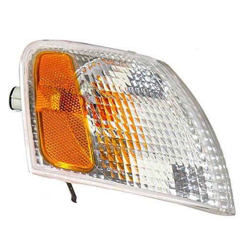 00 Volkswagen Passat Corner - Passengers Park Signal Corner Marker Light White Lens Replacement for Volkswagen 3B0 953 042 D
