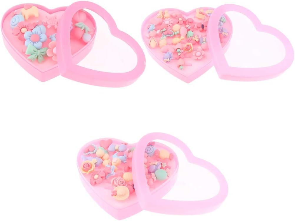 B Blesiya Einstellbare Ringe mit Herzform Box f/ür Kinder Geburtstag Party Favors Pretend Play Spielzeug 12 St/ück